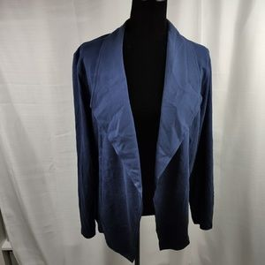 Style &Co Woman's Collared Solid Open Front Blazer